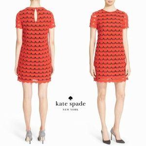 Kate Spade Crochet Overlay Lace Dress HW6451